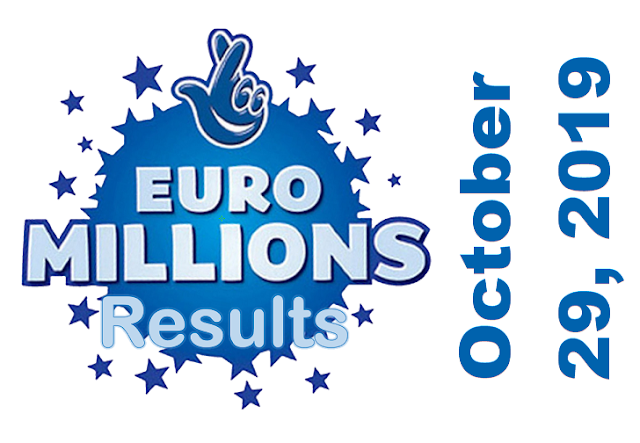 EuroMillions Results for Tuesday, October 29, 2019