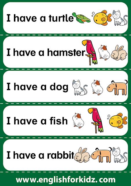 Reading fluency worksheet for kindergarten and elementary school, verb have