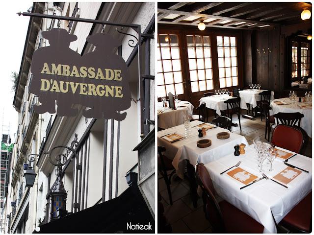 Décoration du restaurant  Ambassade d'Auvergne