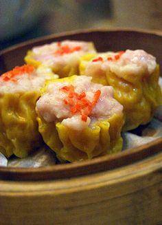 Pork and shrimp dumplings - dim sum