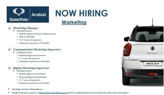 marketing manager job