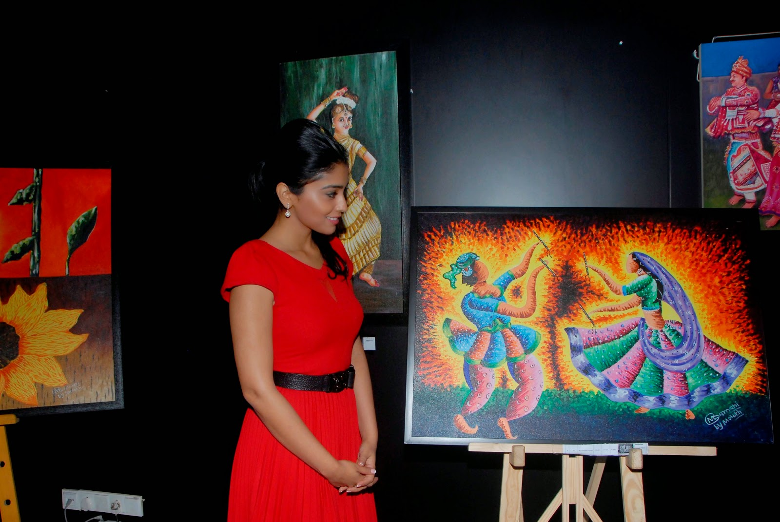 Shriya Saran Indian Mouth And Foot Painting Artists Event Stills Latest Movie Updates Movie Promotions Branding Online And Offline Digital Marketing Services