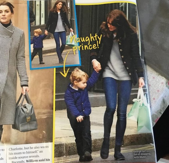 Catherine, Duchess of Cambridge was seen out shopping with Prince George. The photos are from Australia's Woman's Day magazine