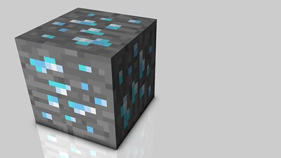 Minecraft Diamond Blocks l Rarest Material In Minecraft