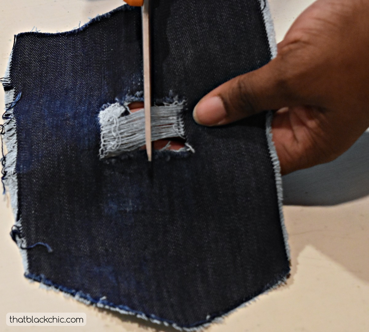DIY Distressing Your Own Denim! [Tutorial] | That Black Chic