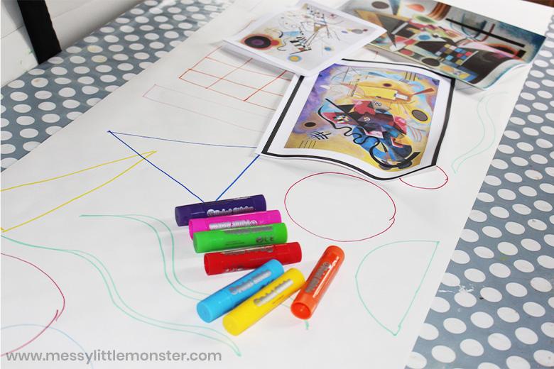 Kandinsky shape art for kids
