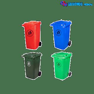 Tempat Sampah Warna-Warni 120 Liter