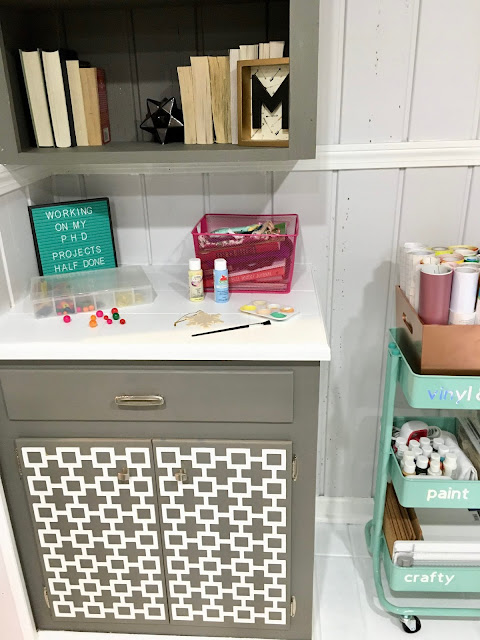 Craft room and workspace makeover for the One Room Challenge
