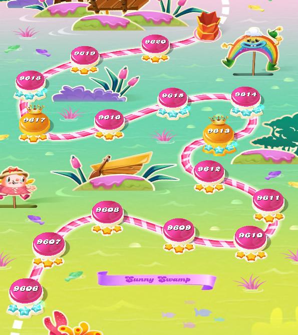 Candy Crush Saga level 9606-9620