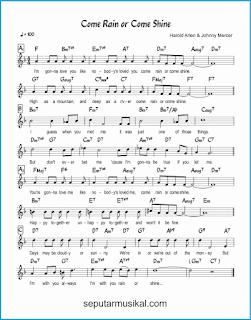 chord come rain or come shine lagu jazz standar