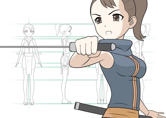 Merancang karakter manga