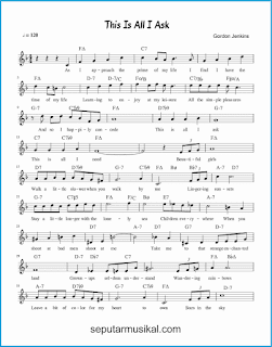 chord this is all i ask 1 lagu jazz standar
