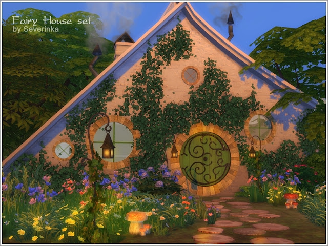 Сказочное - строительные объекты и декор для Sims 4 со ссылками на скачивание