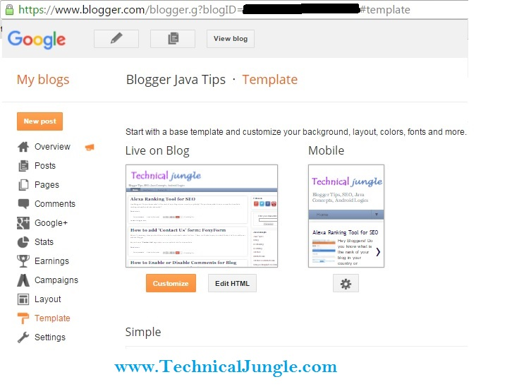 How to Show/Hide Gadget for Mobile View in Blogger - Android