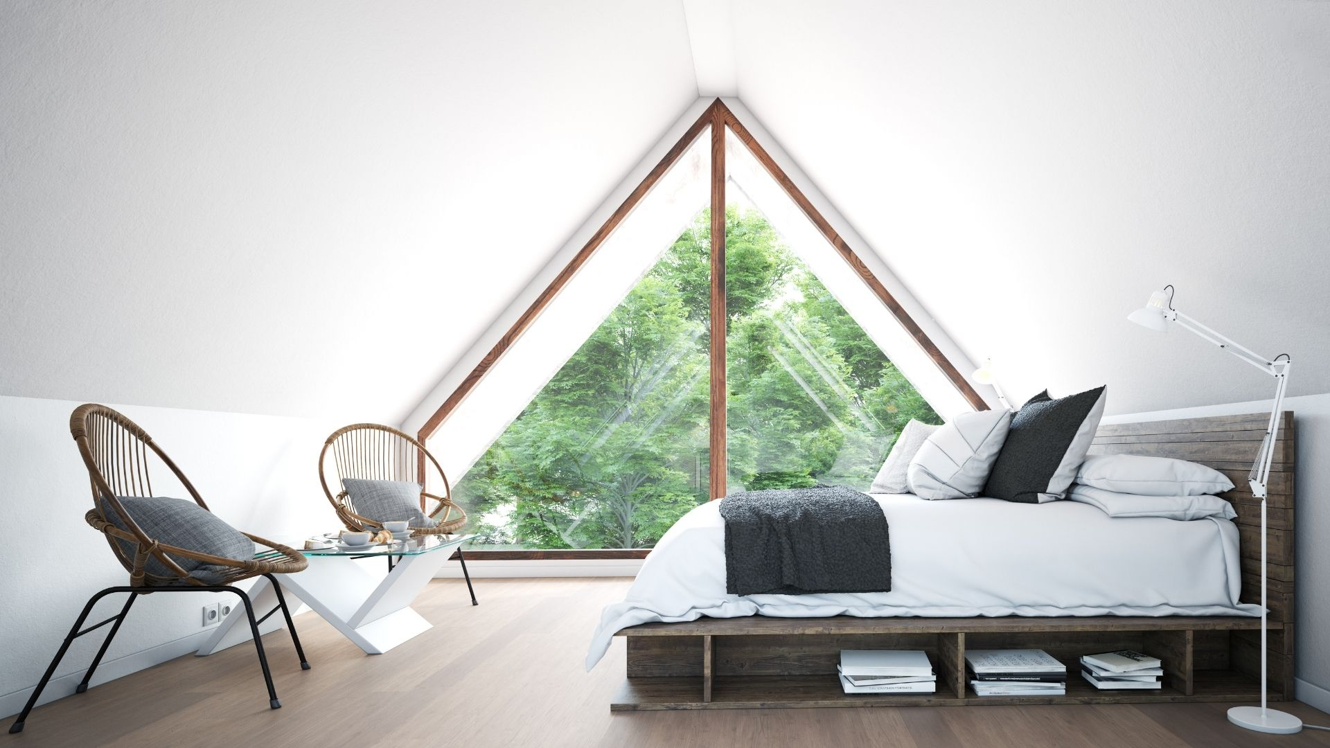 sypialnia na strychu inspiracje