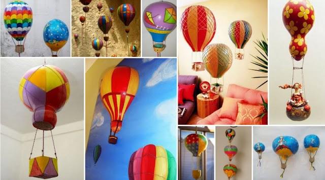 Διακοσμητικά Αερόστατα από Κολοκύθες