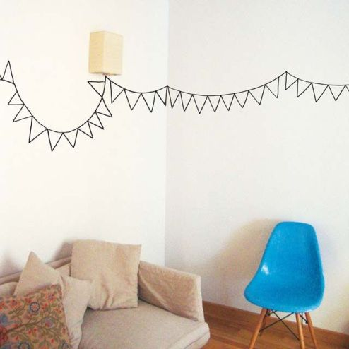 Lolalolailo blog 15 ideas para decorar paredes con washi tape - Ideas para decorar con washi tape ...
