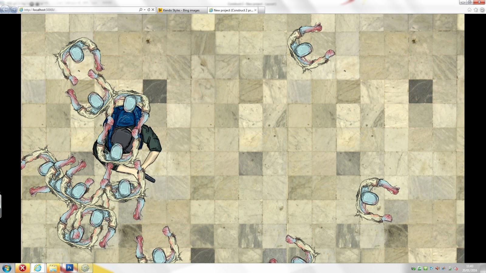 Tester Zombie Game Construct Work  | Jordan Whyte Games Blog