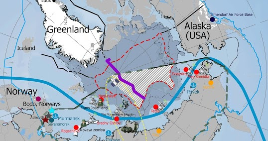 Submarine Matters Russias Northern And Pacific Fleets SSBN - Map teardrop from russia to us