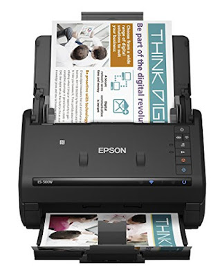 To meet inward fourth dimension in addition to role if the multipare document feeder is all the same working every bit good too goo Epson WorkForce ES-500W Driver Download