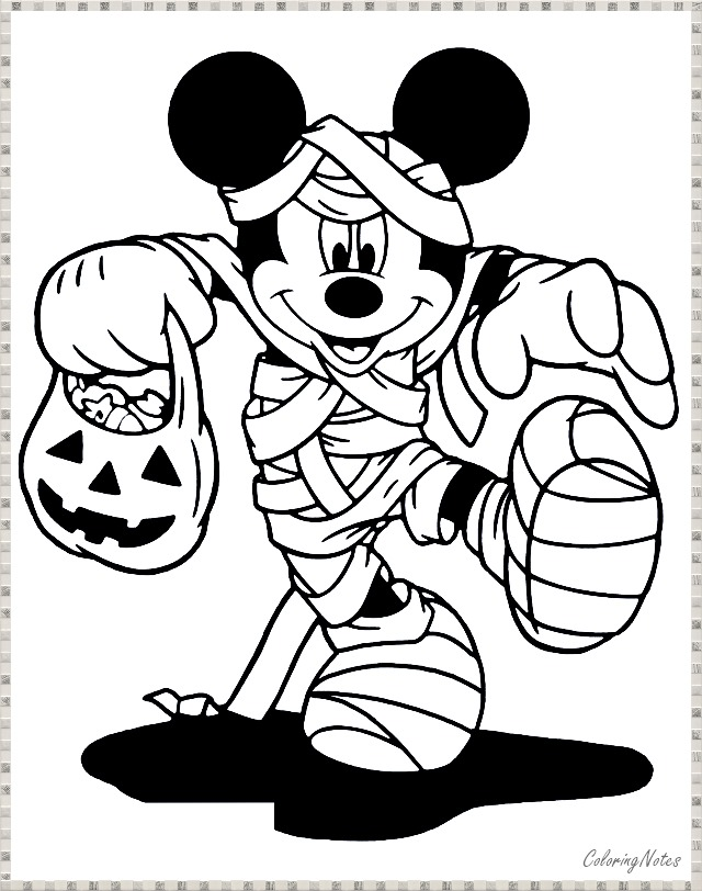 17 Cute and Funny Disney Halloween Coloring Pages Free ...