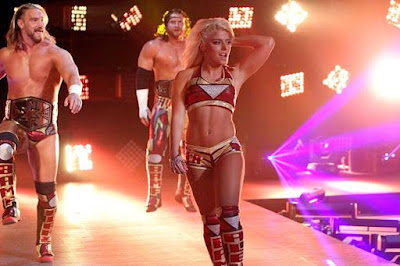 NXT Entrance Alexa Bliss, Blake and Murphy
