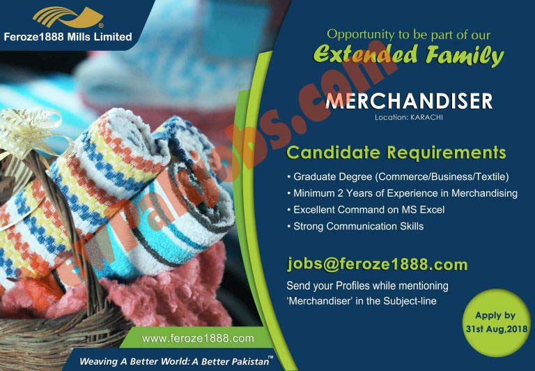 Latest Jobs in Feroze Textile Mills Ltd