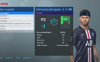 Neymar Jr.   New Look 2019   PES2019   PC