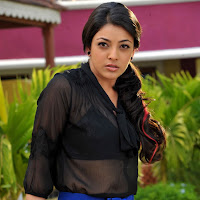 Kajal in black tops