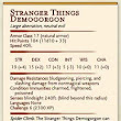 Stranger Things Demogorgon Stats