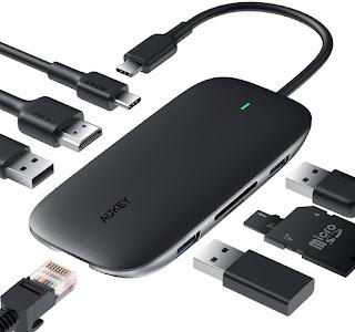 USB C Hub, connector hub, smart hub, card reader