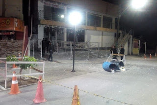 Bandidos explodem agência bancária na Paraíba