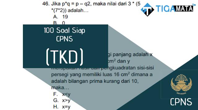 100 Soal Siap TKD/SKD CPNS 2018 disertai Jawaban dan Pembahasan Lengkap