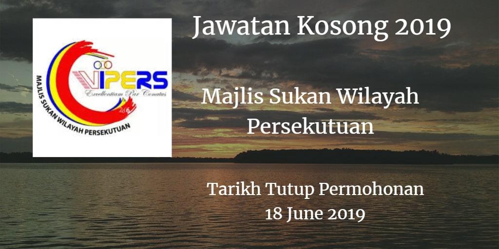 Jawatan Kosong Majlis Sukan Wilayah Persekutuan 18 June 2019