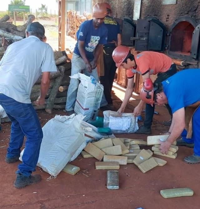 Polícia Civil de Santa Terezinha de Itaipu incinera quase 2 toneladas de maconha