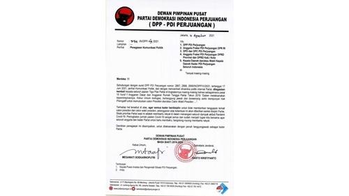 Beredar Surat Instruksi PDIP Minta Kader Tak Bicara Capres-Cawapres