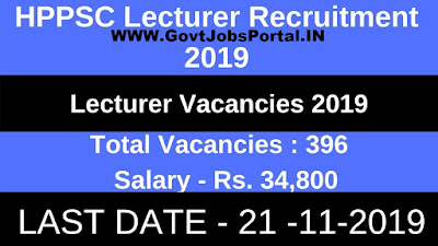 HPPSC Recruitment for 396 Lecturer Posts 2019