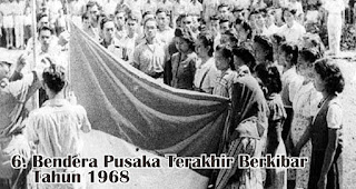 Bendera Pusaka Terakhir Berkibar Tahun 1968 merupakan salah satu fakta sejarah menarik bendera Indonesia