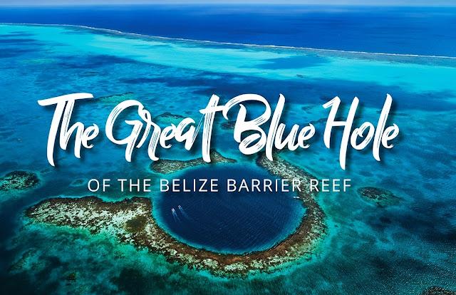 El gran agujero azul (Big Blue Hole) es uno de los destinos turísticos y de las maravillas geológicas dignas de visitar en la vida, se encuentra cerca de la península de Yucatán (el territorio del estado de Belice en América Central), que es un embudo circular con un diámetro de 305 my 120 m de profundidad. Las mejores vistas de este pozo se abren desde una altura.