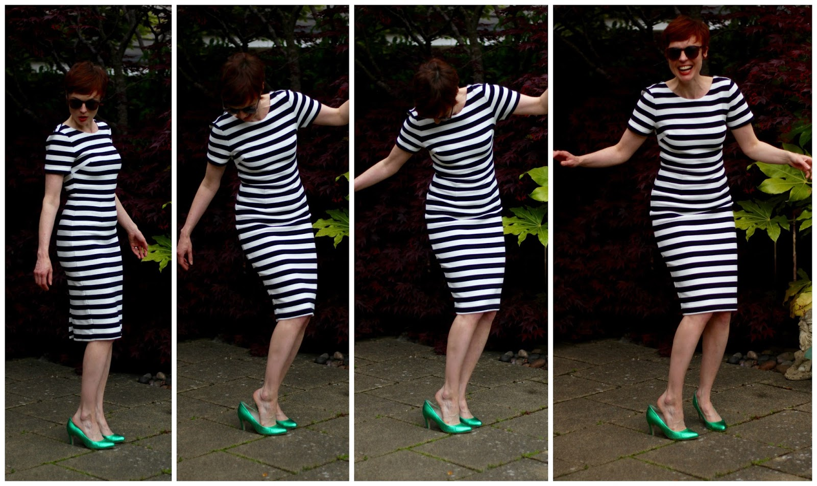 What Colour Shoes to Wear with a Black & White Dress, over 40? Goofing around