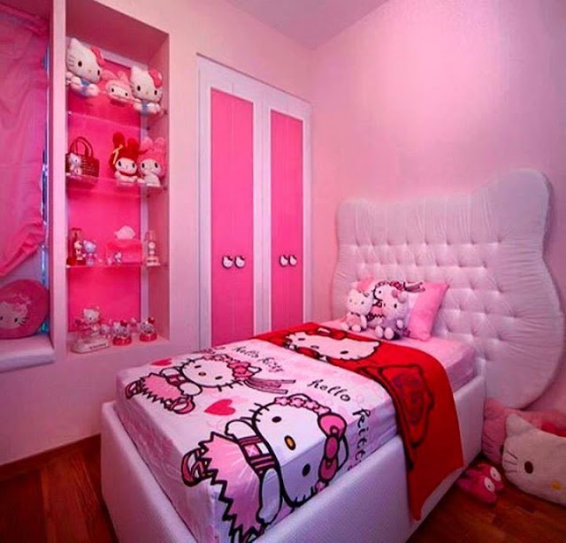 Girls sleeping rooms pink color for Sleeping room decoration