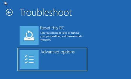 Troubleshooting Screen Options