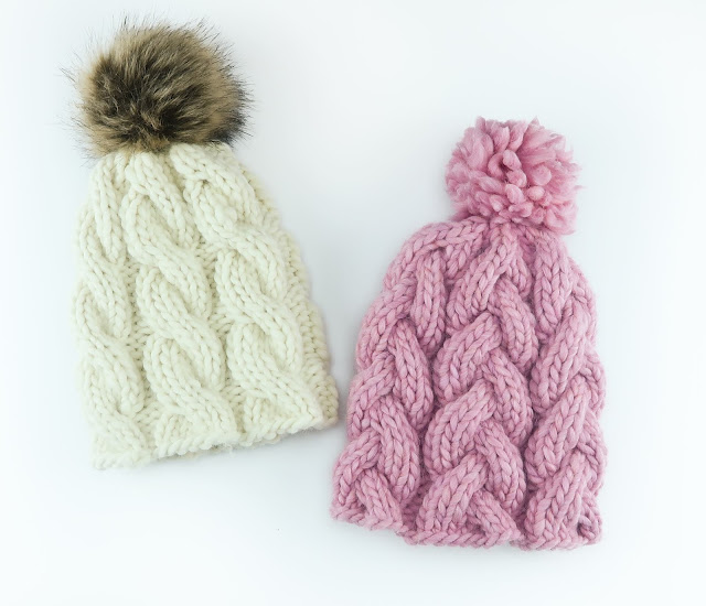 CABLE & BRAIDED BEANIES - PDF PATTERN