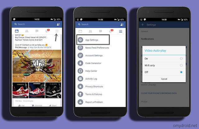 Cara Menghentikan Fungsi Video Facebook Dimain Secara Automatik