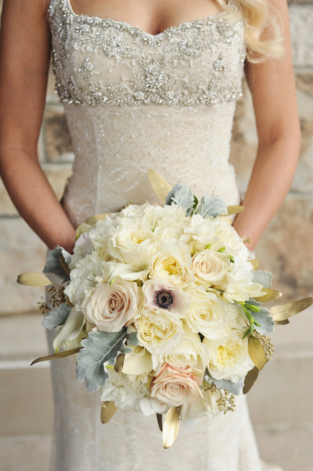 wedding flowers utah branches event floral company metallic winter wedding 9653