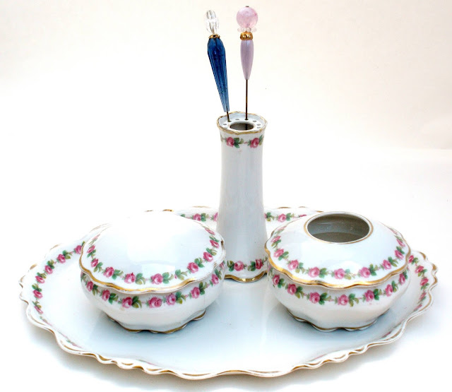 Click here to find this antique vanity set