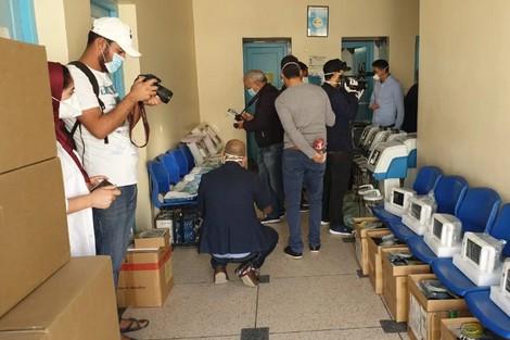 """taroudantpress   """"لجنة اليقظة"""" تُدعم المستشفى الإقليمي في إنزكان  تارودانت بريس"""