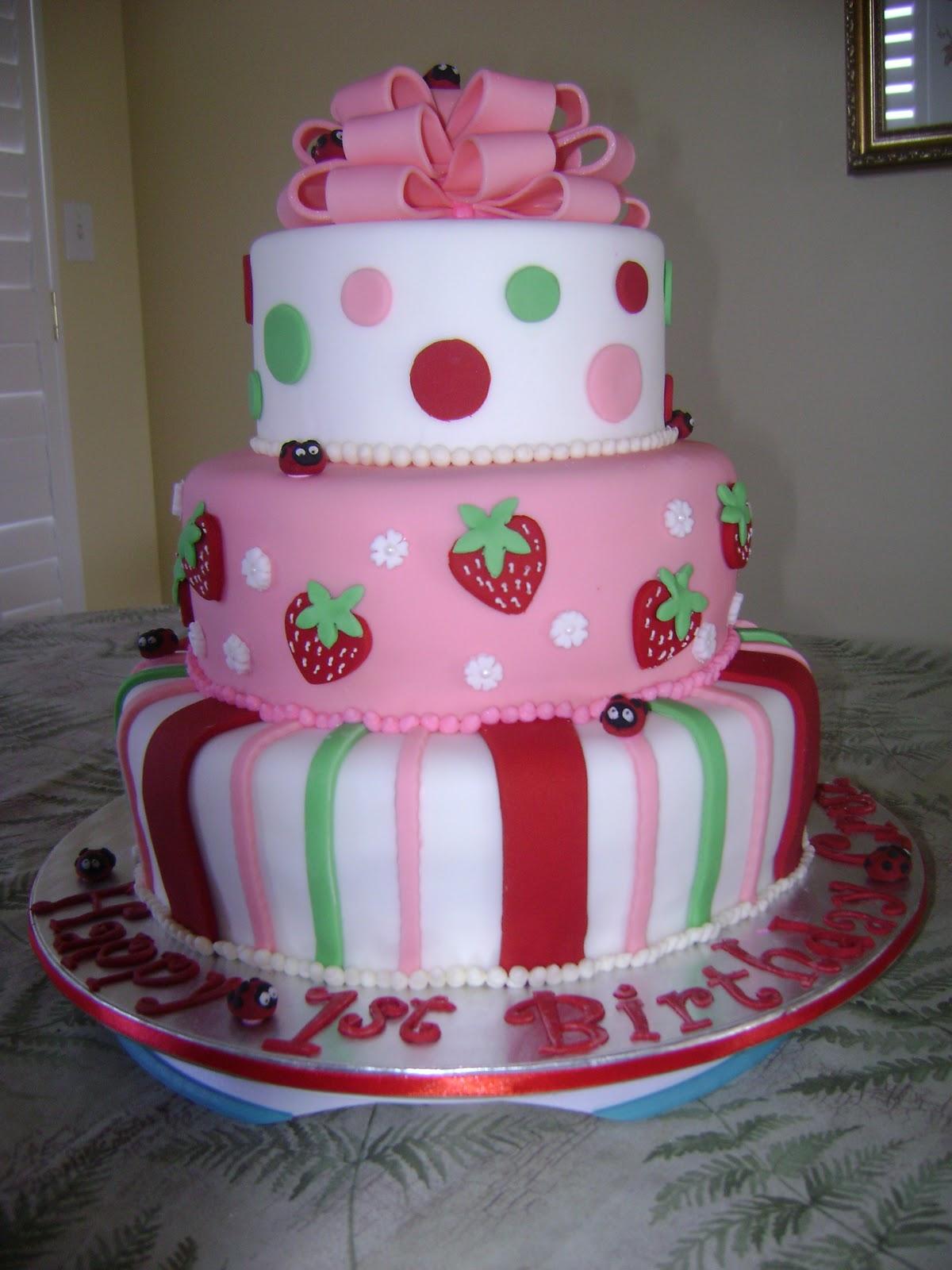 Marymel Cakes Strawberry Shortcake 1st Birthday