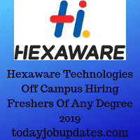 Hexaware Technologies Off Campus Drive 2019