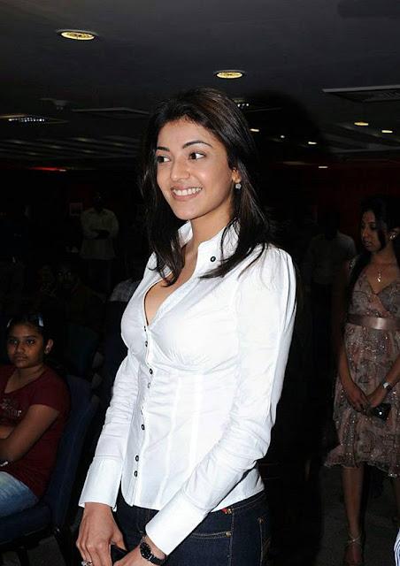 Kajal Agarwal Stunning Pics In White Dress Navel Queens